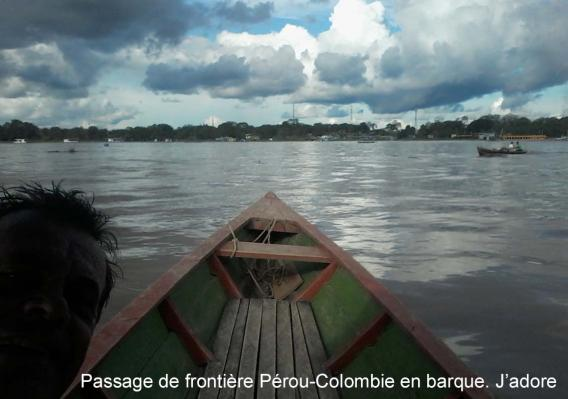 Amazonie, passage de frontière