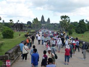 Angkor, la foule