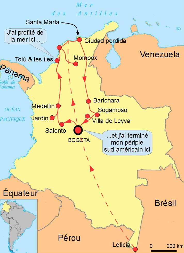 Carte Colombie-Bogota