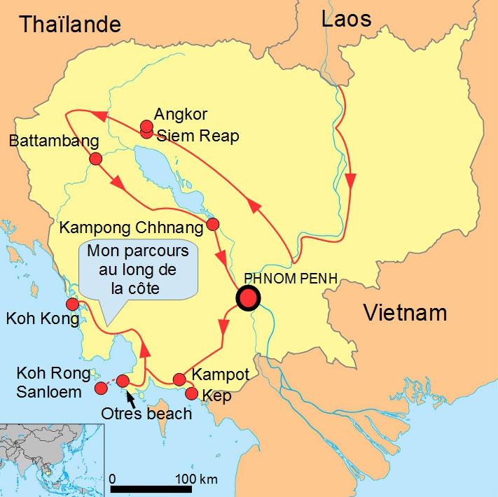 Cambodge plages iles