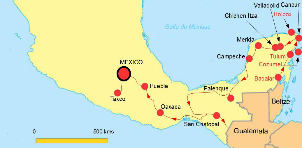 Côte Yucatan