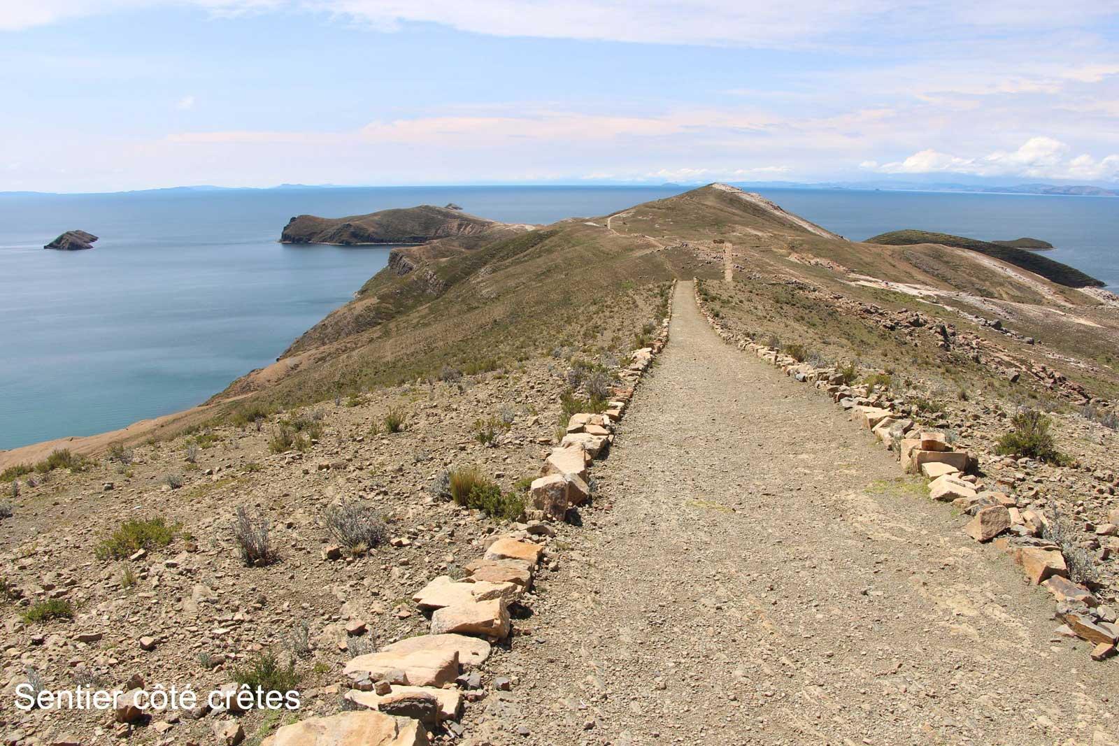 Isla del sol - Chemin des crêtes