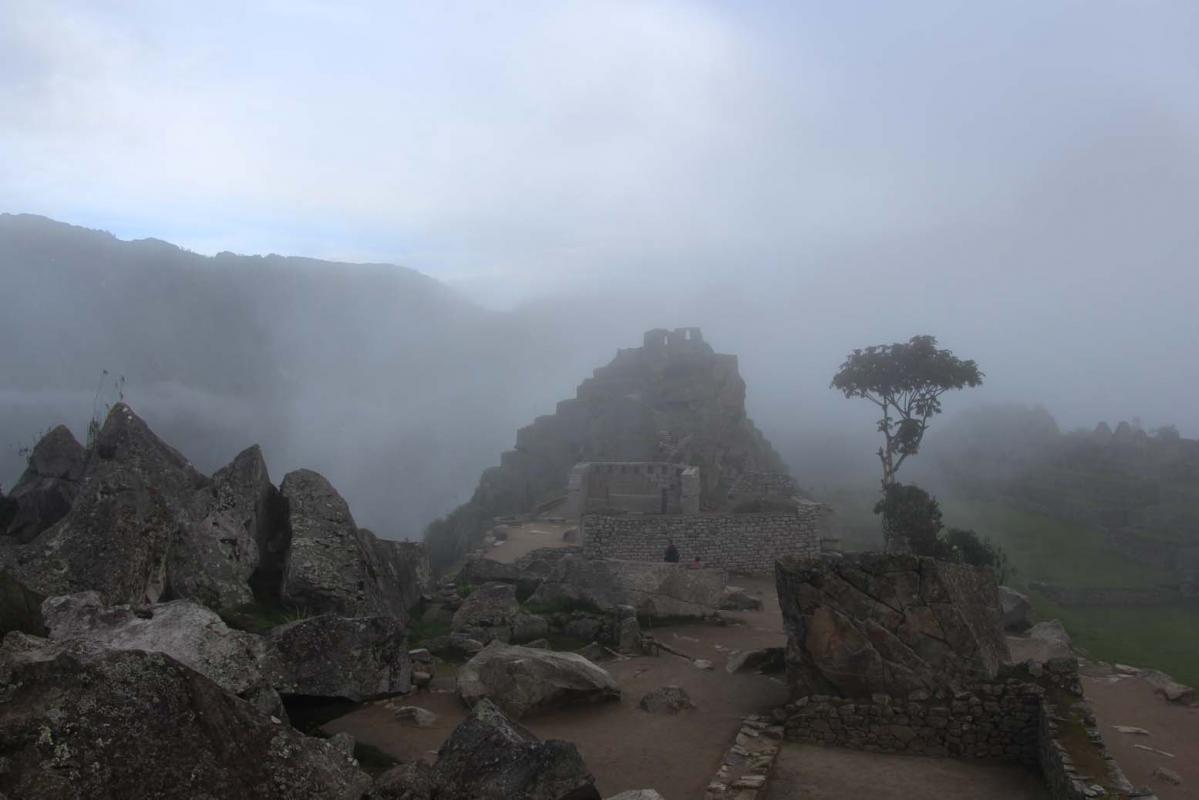 Machu Picchu, le brouillard se lève