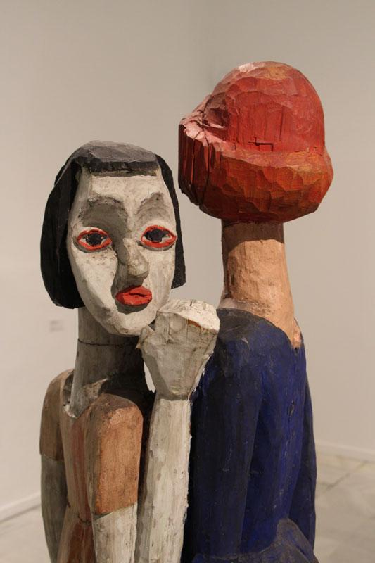 Une sculpture bois de Muller