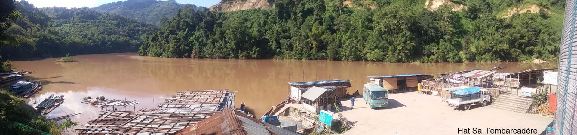 Nam Ou, embarcadère de Hat Sa