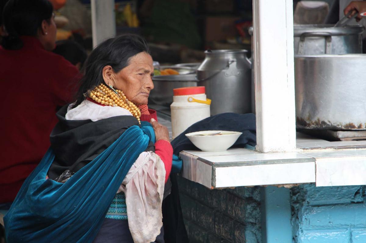 La dame au marché