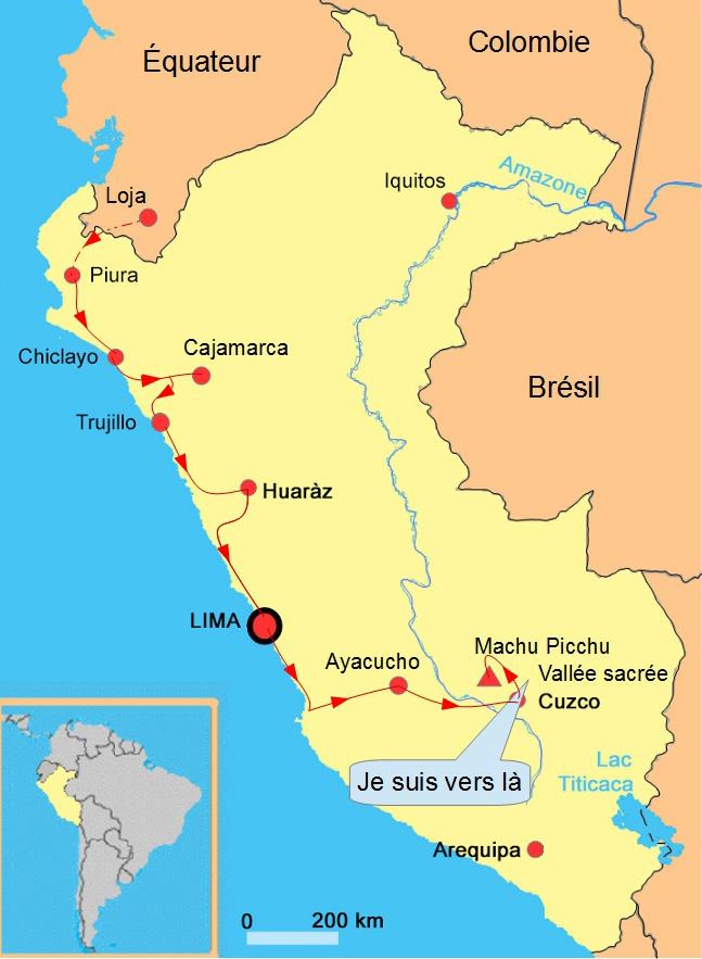 Pérou Localisation vallée sacrée